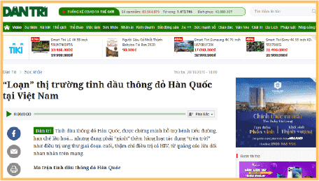 Loạn thị trường thông đỏ Việt Nam