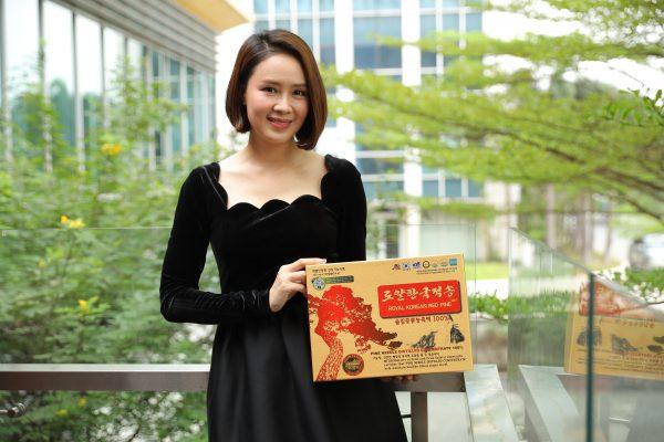 Diễn viên Hồng Diễm nói về tinh dầu thông đỏ Hàn Quốc